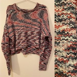 NWOT Cropped Chenille Sweater